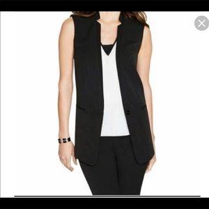 WHITE HOUSE BLACK MARKET Black long Vest